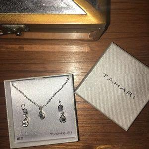 🍂TAHARI | Teardrop Earings and Necklace Set🍂